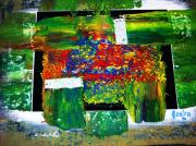 Intense Paintings - Essay On Green by Adolfo hector Penas alvarado