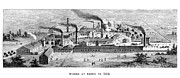 Essen Framed Prints - Essen: Krupp Works, 1852 Framed Print by Granger