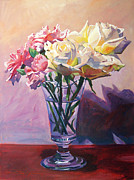 Most Popular Paintings - Essence of Rose by David Lloyd Glover
