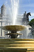 Statue Portrait Prints - Essential Elements of Trafalgar Square Print by Vicki Jauron