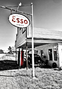 Gas Stations Prints - Esso Express Print by Chad Tracy