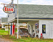 Esso Photos - Esso Gas Staion by Jack Schultz
