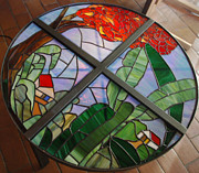 Tropical Scene Glass Art - Estampa by Dorcas Pabon