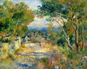 Clearing Prints - Estaque Print by Renoir