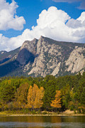 Estes Park Framed Prints - Estes Lake Autumn View  Framed Print by James Bo Insogna