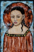 Religious Art Painting Prints - Esther Print by Rain Ririn