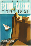 Old Town Digital Art Posters - Estoril Cassais Poster by Nomad Art And  Design
