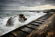 Winter Storm Prints - Estoril Coastline Print by Carlos Caetano