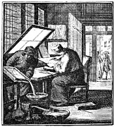18th Century Photos - ETCHER, 18th CENTURY by Granger