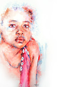Watercolour Portrait Prints - Eternal Dream Print by Stephie Butler