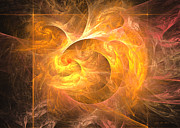 Mathematical Originals - Eternal flame - Abstract digital art by Sipo Liimatainen