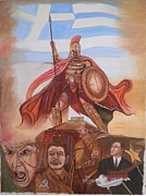 Hitler Paintings - Eternal Greek by Konstantinos Baklatzis