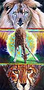 Cheetah Painting Framed Prints - Eternal Nature of Our Universe Framed Print by John Lautermilch