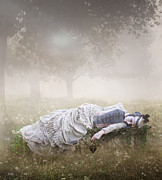 Fog Digital Art Acrylic Prints - Eternal Rest Acrylic Print by Karen Koski