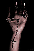 Rosary Photo Posters - Eternal Struggle Poster by Lauren Radke