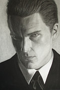 Black Tie Drawings - Ethan Hawke by Tania Kelvin