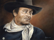 John Wayne Paintings - Ethan by Kim Lockman