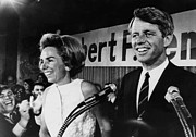 Ev-in Framed Prints - Ethel Kennedy, Robert F. Kennedy Framed Print by Everett
