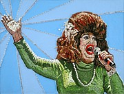 Drag Mixed Media Posters - Ethel Merman Experience Poster by Michael Kruzich