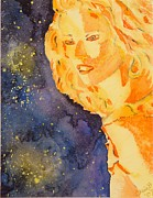 Wet Into Wet Watercolor Prints - Ethereal Lady Print by Chris Blevins