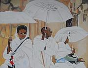 African-american Paintings - Ethiopian Travelers by Patrick Hunt