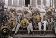 Headdresses Photos - Ethiopias Veterans, In Traditional by W. Robert Moore