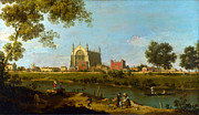 Canaletto Paintings - Eton College by Giovanni Antonio Canaletto by Pg Reproductions