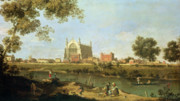 Punt Framed Prints - Eton College Framed Print by Canaletto