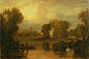 Swans... Painting Posters - Eton College from the River Poster by Joseph Mallord William Turner