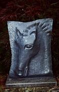 Grey Sculptures - Etruscan Horse by Karen Lipeika