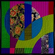 Featured Tapestries - Textiles Framed Prints - Etude 3 Framed Print by Marilyn Henrion
