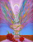 Heavenly Body Painting Posters - Eucharist Poster by Anne Cameron Cutri