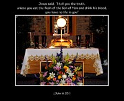 Communion Art - Eucharist Unless you eat the flesh by Rose Santuci-Sofranko