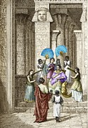 Euclid And Ptolemy Soter, King Of Egypt Print by Sheila Terry