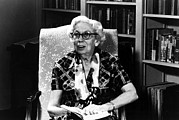 Bookcase Prints - Eudora Welty, 1980 Print by Everett