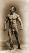 Weightlifter Prints - Eugen Sandow 1867-1925, Assuming A Pose Print by Everett