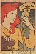 Red Hair Prints - Eugene Grasset Print by Salon des Cent