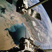 Featured Metal Prints - Eureca Deployment, Sts-46, Persian Gulf Metal Print by NASA / Science Source