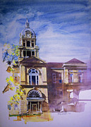 Eureka Painting Framed Prints - Eureka Courthouse Framed Print by Rick Clubb