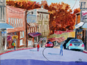 Store Fronts Prints - Eureka Springs AK 5 Print by Ron Stephens