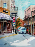 Store Fronts Prints - Eureka Springs AK 7 Print by Ron Stephens