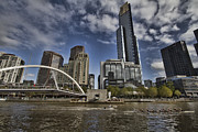Rowers Posters - Eureka Tower-View from Cityside Poster by Douglas Barnard