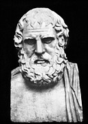 Statue Portrait Photo Prints - Euripides Print by Granger