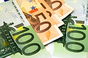 Commerce Photo Posters - Euro banknotes Poster by Fabrizio Troiani