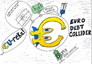 News Mixed Media - Euro Debt Collider by OptionsClick BlogArt