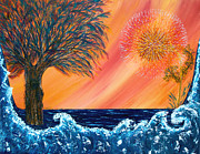 Pm Ernst Painting Prints - Europa Tsunami Print by Pm Ernst