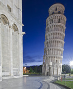 Leaning Building Photos - Europe Italy Tuscany Pisa Cathedral by Rob Tilley