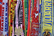 Life In Italy Framed Prints - European Soccer teams scarfs for sale in store Framed Print by Sami Sarkis