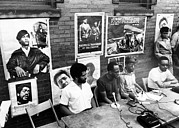 African-american Photo Posters - Ev1817 - Black Panther Party Press Poster by Everett