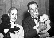 Dictator Photos - Eva And Juan Peron With Their Dogs by Everett